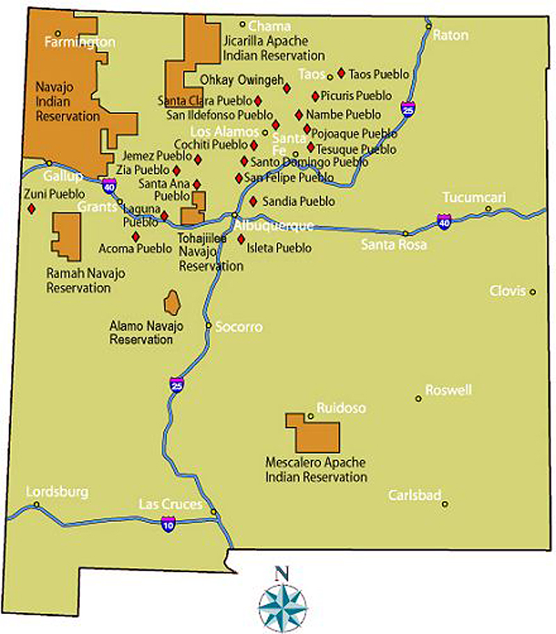 Pueblos New Mexico Map.Tribal Liaison