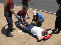 Photo of a survival training exercise in action.