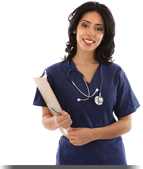 Smiling Nurse Holding Clipboard