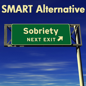 Photo of a an exit sign on the highway that says next exit sobriety.