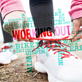 Photo of a runner bending down and tying their shoe.