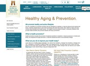 Healthy Aging & Prevention