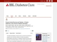 Physical Activity/Exercise and Diabetes: A Position Statement of the American Diabetes Association