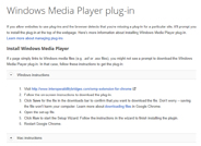 Windows Media Player Browser Plug-In