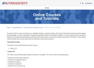 Autism Society Courses and Tutorials