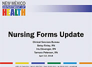 DDW Training: Nursing Forms Update Webinar