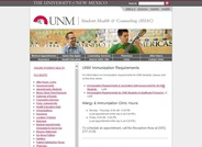 Immunization Requirements for UNM Students