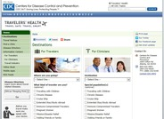 This page on the Centers for Disease Control and Prevention website provides health information about various destinations for travelers, clinicians, and the travel industry.
