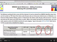How to Enter Vaccine Inventory into NMSIIS