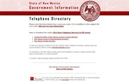 New Mexico State Telephone Directory