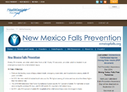 This coalition attempts to implement the strategies of the Falls Free® Initiative and National Action Plan. The group has sponsored trainings and speakers on relevant falls prevention topics, and a falls screening booth at the New Mexico State Fair.