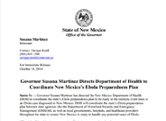 Coordinating New Mexico's Ebola Preparedness Plan