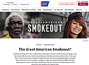 The American Cancer Society marks the Great American Smokeout on the third Thursday of November each year by encouraging smokers to use the date to make a plan to quit, or to plan in advance and quit smoking that day.