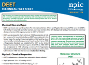 DEET Technical Fact Sheet