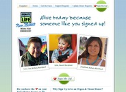 Donate Life Organ & Tissue Donor Registry