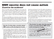 MMR Vaccine Does Not Cause Autism