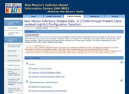 This resource provides data updated nightly for a large number of disease generated by the New Mexico Indicator-Based Information System.