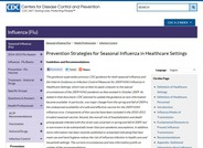 Prevention Strategies for Seasonal Influenza in Healthcare Settings