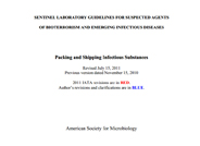 ASM Guidelines for Packaging & Shipping Infectious Substances