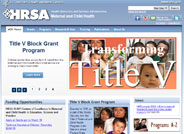 Health Resources and Services Administration's Maternal Child Health Bureau