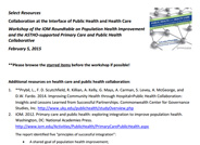 Resources on Health Care and Public Health Collaboration