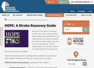 HOPE: A Stroke Recovery Guide