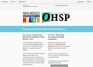 Occupational Health in New Mexico (Summer 2015)