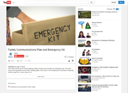 Emergency Kit and Family Communications Plan Video