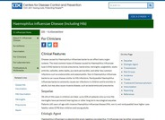 Haemophilus influenzae Disease Information for Clinicians