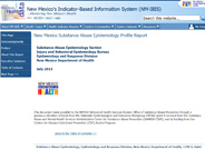 Substance Abuse Epidemiology Data Reports
